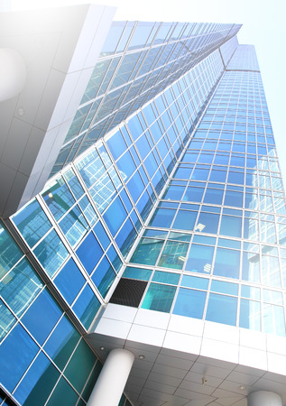 administrative buildings: Perspective of modern office building