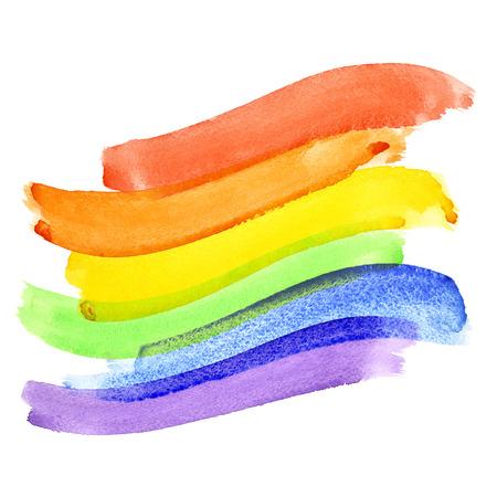 bandera gay: Bandera del orgullo gay de la acuarela roinbow