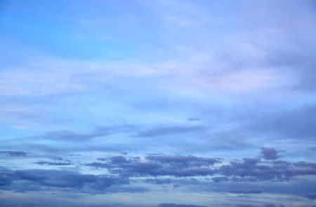 duskiness: Sky with clouds in the twilight