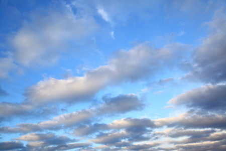 duskiness: Sky with clouds in the evening
