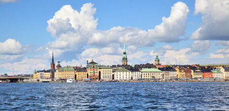 stan: Panorama of the Old Town of Stockholm Gamla Stan