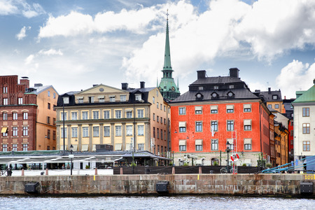 stan: Waterfront in the Old Town of Stockholm Gamla Stan Stock Photo