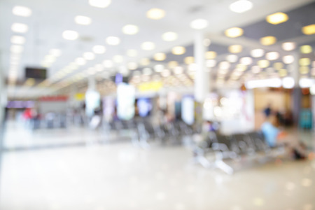 out of focus: Waiting room in airport out of focus  - bokeh background Stock Photo