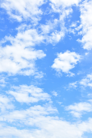 Sky background - only clouds in the blue sky (vertical)