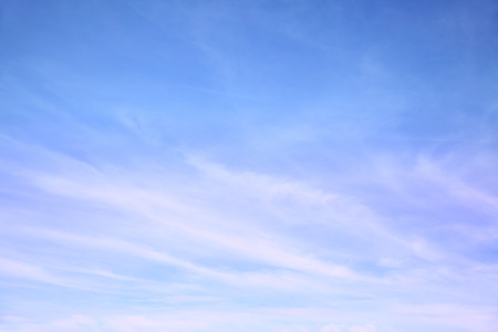 Blue sky with cirrus clouds -  may be used as background Standard-Bild