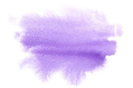 Blue aquarel vlek - ruimte voor uw eigen tekst Stockfoto