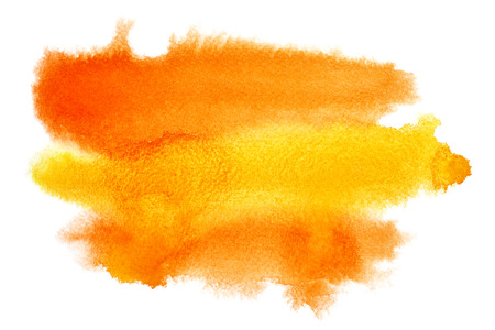 color illustration: Yellow - orange watercolor stain - space for your own text