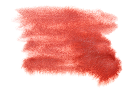 red and white: Abstract red watercolor stain isolated over the white background - space for your own text