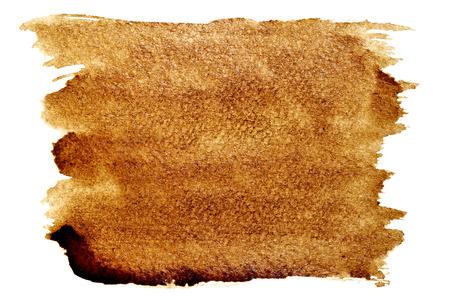 白地 - テキスト (使用される本物のコーヒー) のスペースを分離したコーヒー ストローク