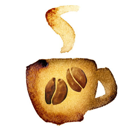 coffee icon: Coffee cup icon isolated over the white background
