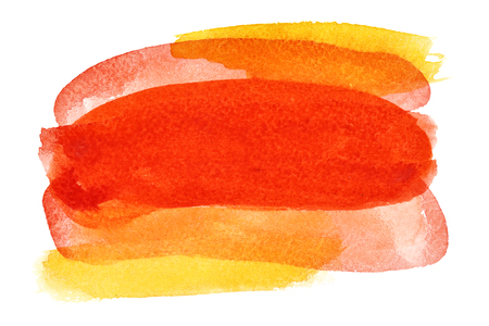 own: Red - orange colorful watercolor background - space for your own text