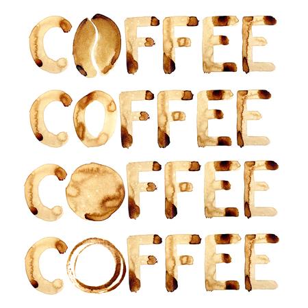 granos de cafe: Palabras café pintado de café de verdad