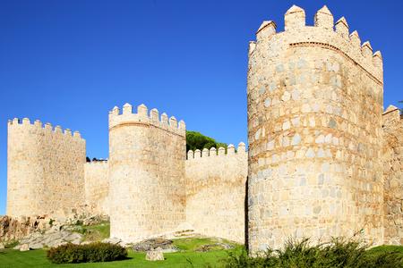 castile: City wall of Avila, Castile and Leon, Spain