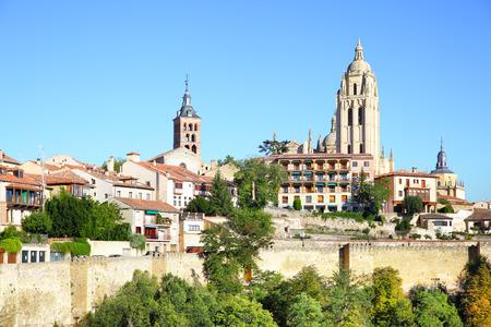 segovia: Old town of Segovia, Spain
