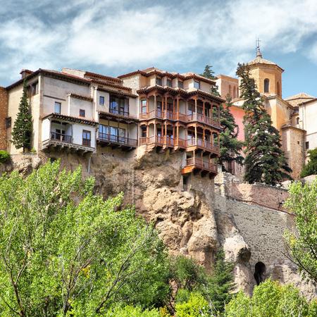 castilla la mancha: Hanging houses Casas Colgadas in Cuenca, Castilla La Mancha, Spain