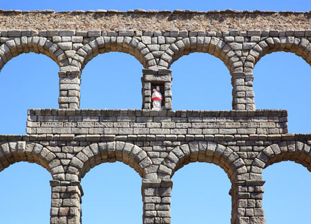 acueducto: Ancient Roman aqueduct in Segovia, Spain