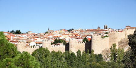 castile: Panoramic view of Avila, Castile and Leon, Spain