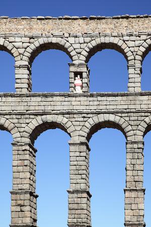 segovia: Ancient Roman aqueduct in Segovia, Spain