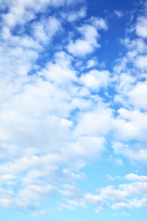 clouds and sky: Blue sky with clouds -  may be used as vertical background
