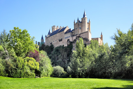 segovia: Picturesque view of Castle of Segovia Alcazar, Spain Editorial