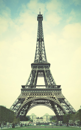 tower: The Eiffel Tower in Paris. Retro style filtred image Stock Photo