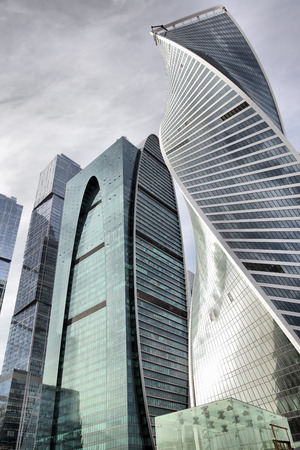 sky scraper: Towers of Moscow city, Russia