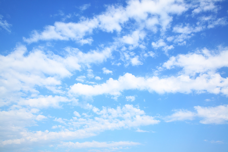 blue summer sky: Summer blue sky with clouds