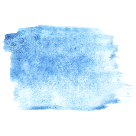 pictured: Pale blue watercolor stroke - abstract background and space for your own text Stock Photo