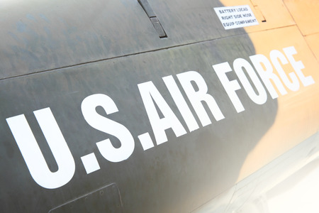 us air force: US Air Force marking on the side of helicopter Editorial
