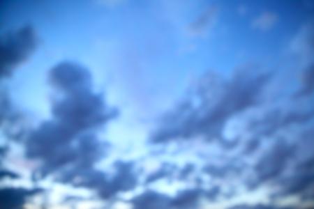 duskiness: Twilight sky out of focus - defocused blurred background