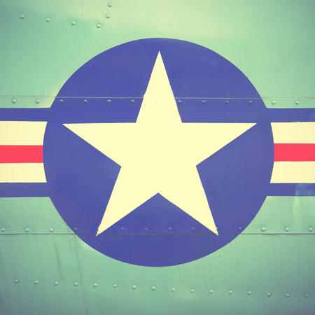 us air force: US Air Force sign. Retro style filtred image Editorial
