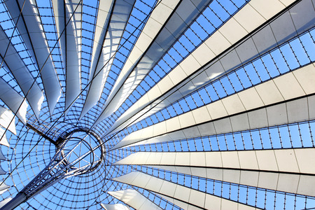 Roof construction  - abstract architectural background 스톡 콘텐츠