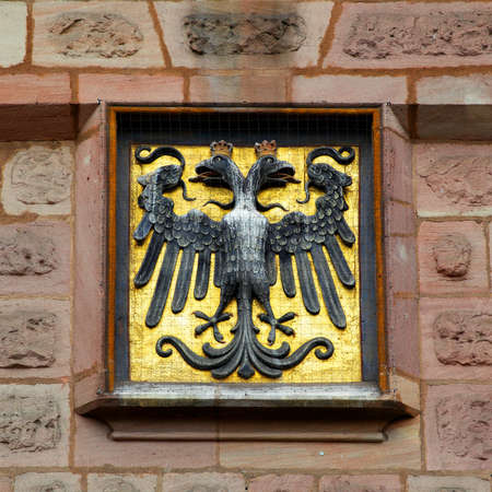 albrecht: Coat of arms with two-headed eagle in Nuremberg, Germany