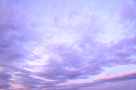 duskiness: Sky with clouds in the twilight, may be used as background