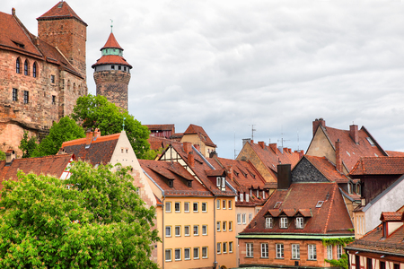 nuremberg: Picturesque view of Old Town in Nuremberg, Germany Stock Photo