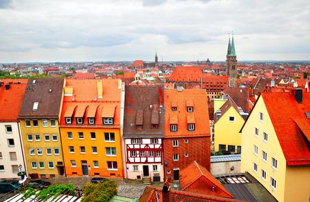 altstadt: Panoramic view of Altstadt in Nuremberg, Germany