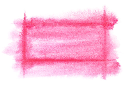 dabs: Light red watercolor frame - abstract  background or space for your own text Stock Photo