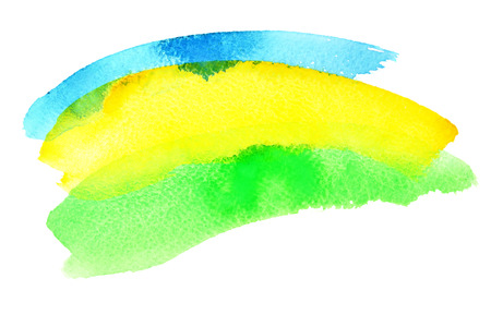 resemble: Watercolor brush strokes. Colours resemble flag of Brazil (Green, yellow, blue)