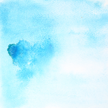 raster artistic: Light blue abstract watercolor background Stock Photo
