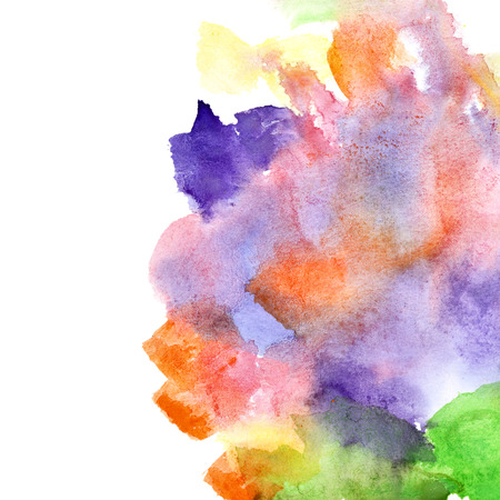 variegated: Variegated watercolor abstract background with copyspace Stock Photo