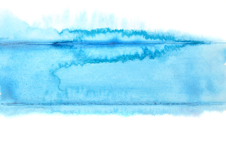 独自のテキストのためのブルー ストライプ - 水彩画の抽象的な背景 - スペース 写真素材
