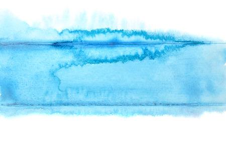 Blauwe streep - abstract aquarel achtergrond - ruimte voor uw eigen tekst
