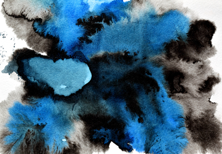 amorphous: Blue - black abstract ink background