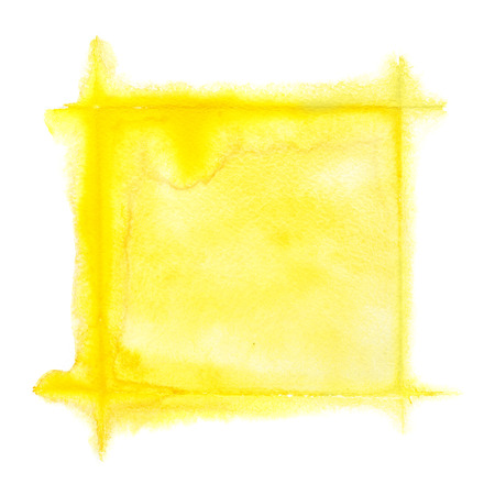 text frame: Yellow square watercolor frame - space for your own text