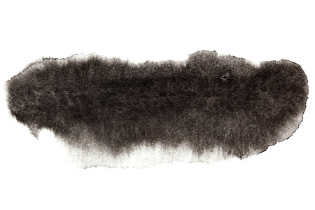 ink stain: Black ink stain isolated over the white background - space for your own text