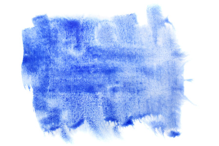 coarse: Blue brush strokes isolated - space for your own text Stock Photo