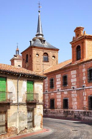 destination scenics: Old street near Oidor church in Alcala de Henares, Spain