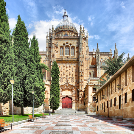 Patio Chico and New Cathedral in Salamanca, Spain Stock Photo