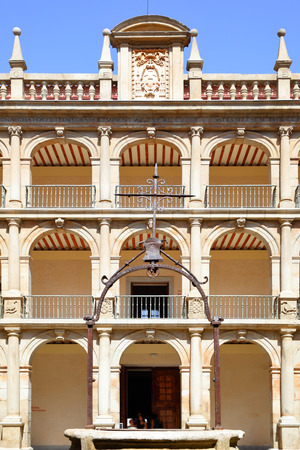 founded: Courtyard of The University of Alcala (originally founded in 1293), Spain