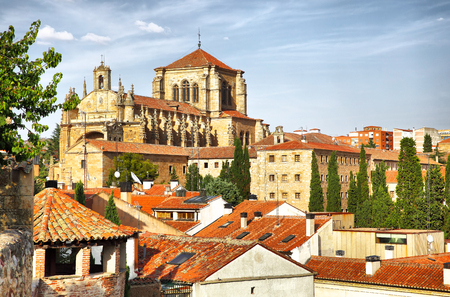 spain: Convent of St. Stephen in Salamanca, Spain. Filtered image Stock Photo